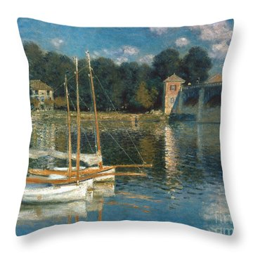 Monet: Argenteuil Throw Pillow by Granger