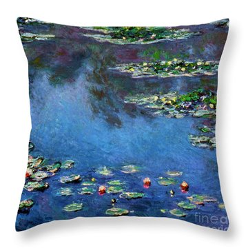 Monet: Waterlilies, 1906 Throw Pillow by Granger