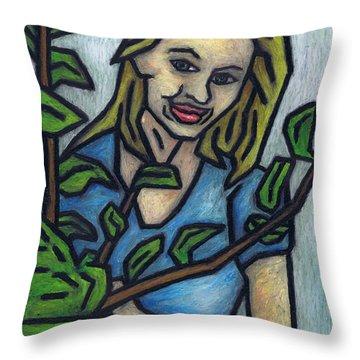 Monisia Throw Pillow by Kamil Swiatek