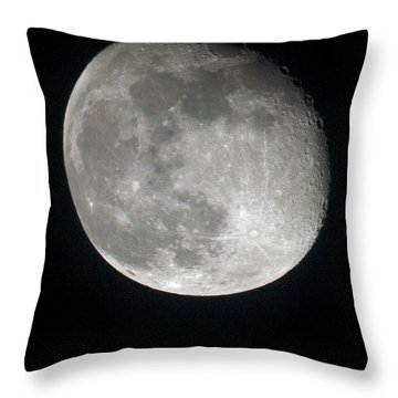 Moon Throw Pillow by Gary Langley