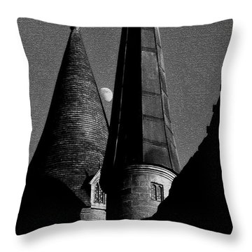 Moon Over Hogwarts Throw Pillow by David Lee Thompson