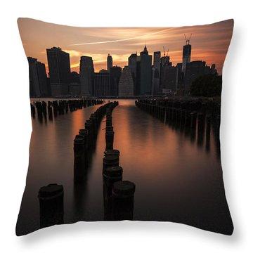 Mooring Eve Throw Pillow by Andrew Paranavitana