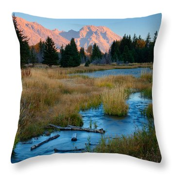 Moran Morning Throw Pillow by Idaho Scenic Images Linda Lantzy