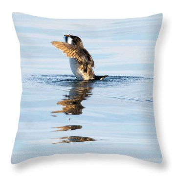 More Than A Mouthful Throw Pillow by Mike Dawson