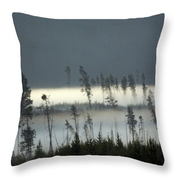 Morning Along The Madison Throw Pillow by Marty Koch