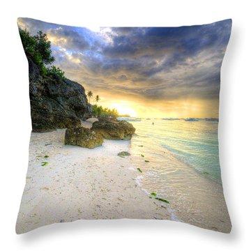 Morning Glow Throw Pillow by Yhun Suarez