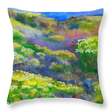 Morning Mist Throw Pillow by Michael Durst