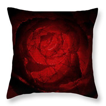 Mosaic Rose Throw Pillow by Svetlana Sewell