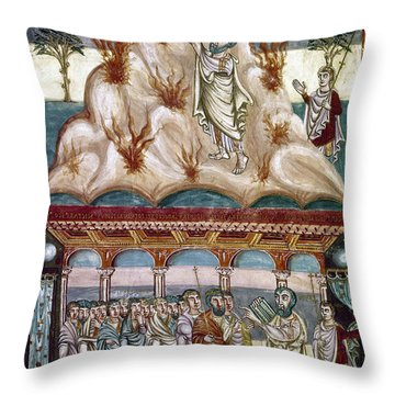 Moses Receiving Laws Throw Pillow by Granger