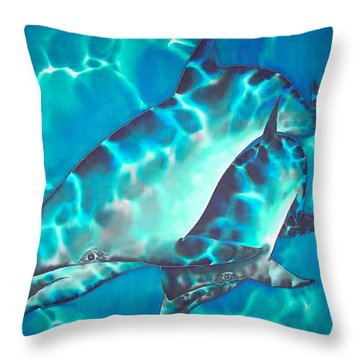 Mother And Baby Throw Pillow by Daniel Jean-Baptiste