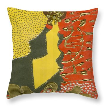 Mother's Earring Throw Pillow by Angela L Walker