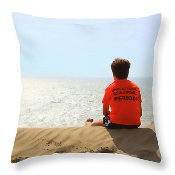 Motivation Throw Pillow by Cathy  Beharriell