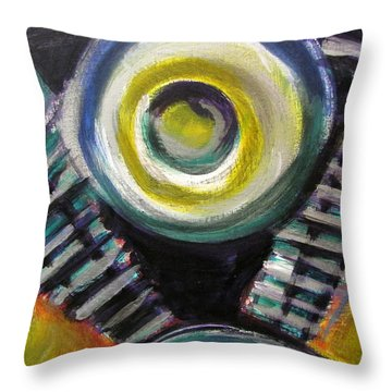 Motorcycle Abstract Engine 2 Throw Pillow by Anita Burgermeister