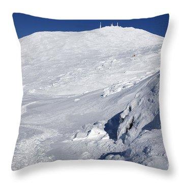 Mount Washington - White Mountain New Hampshire Usa Winter Throw Pillow by Erin Paul Donovan
