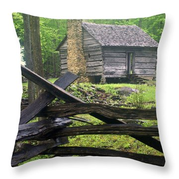 Mountain Homestead Throw Pillow by Marty Koch