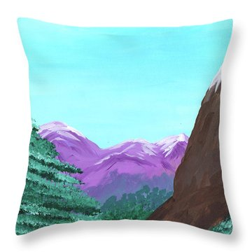 Mountain View Throw Pillow by M Valeriano