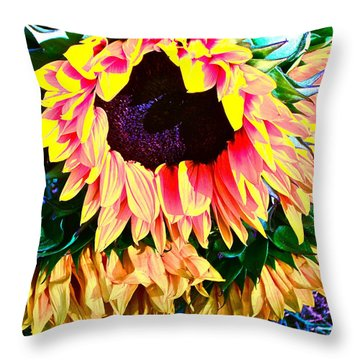Mourning Throw Pillow by Gwyn Newcombe