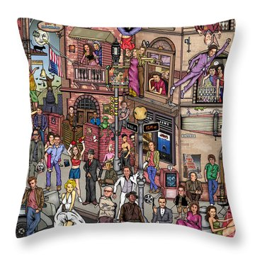 Movie Stars Throw Pillow by Matan Kohn