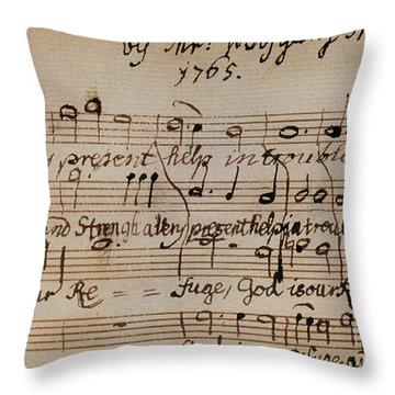 Mozart: Motet Manuscript Throw Pillow by Granger