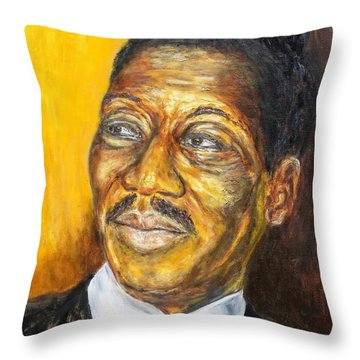 Muddy Waters Throw Pillow by Michael Titherington