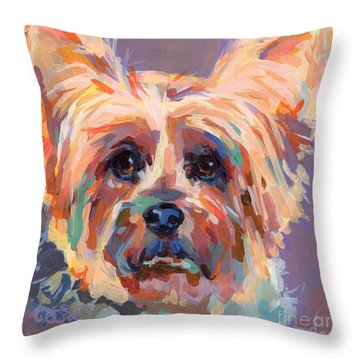 Muffin Throw Pillow by Kimberly Santini