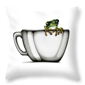 Muggy Throw Pillow by Christina Meeusen