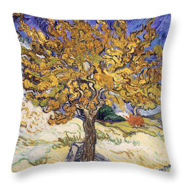 Mulberry Tree Throw Pillow by Vincent Van Gogh