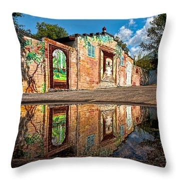 Mural Reflected Throw Pillow by Christopher Holmes