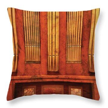 Music - Organist - Skippack  Ville Organ - 1835 Throw Pillow by Mike Savad