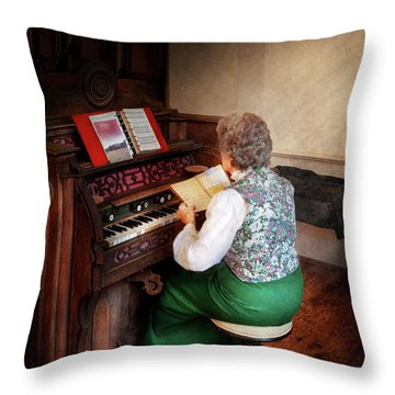 Music - Organist - The Lord Is My Shepherd  Throw Pillow by Mike Savad