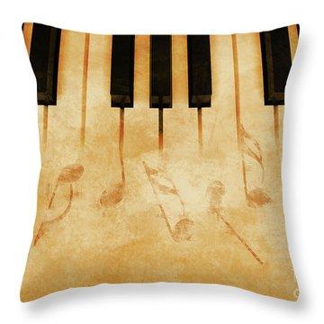 Music Throw Pillow by Giordano Aita