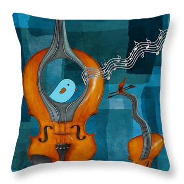 Musiko Throw Pillow by Aimelle