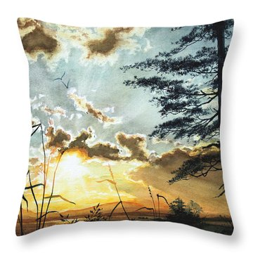 Muskoka Dawn Throw Pillow by Hanne Lore Koehler