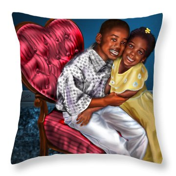 My Big Brother-my Little Sister1 Throw Pillow by Reggie Duffie