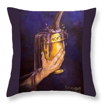 My Cup Runs Over Throw Pillow by Deborah Smith