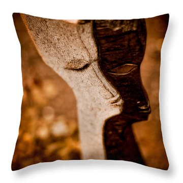 My Shadow And I Throw Pillow by Venetta Archer