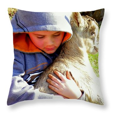 My Very Own Throw Pillow by Karen Wiles