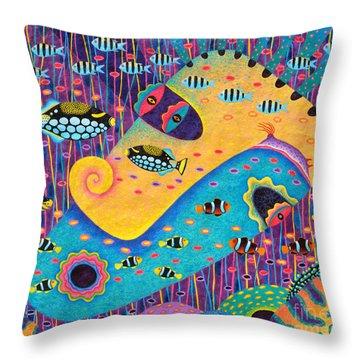 My Wife 1 Throw Pillow by Opas Chotiphantawanon