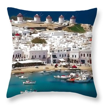 Mykonos Throw Pillow by Dean Wittle