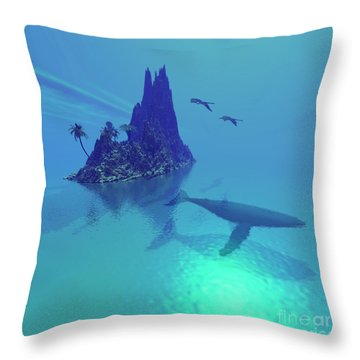 Mystery Island Throw Pillow by Corey Ford