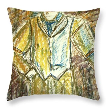 Mystery Man Throw Pillow by Cathie Richardson