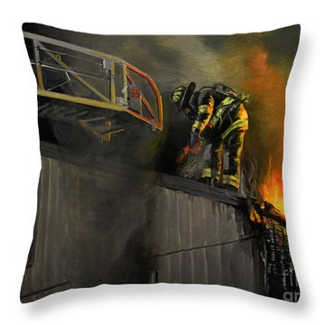 Mystic Fire Throw Pillow by Paul Walsh
