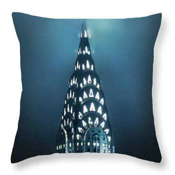 Mystical Spires Throw Pillow by Az Jackson