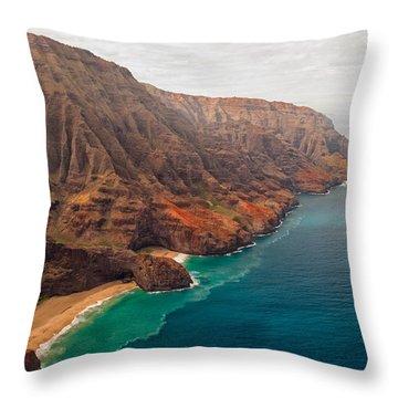 Na Pali Coast 3 Throw Pillow by Brian Harig