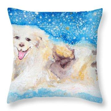 Nanny Bliss Throw Pillow by Ashleigh Dyan Bayer