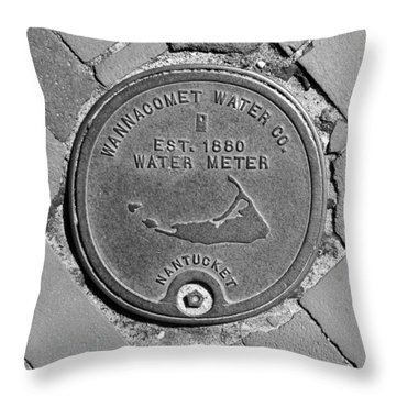 Nantucket Water Meter Cover Throw Pillow by Charles Harden