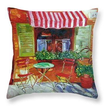 Napa Bistro Throw Pillow by David Lloyd Glover