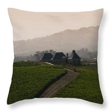 Napa Valley Throw Pillow by Peter Verdnik