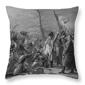 Napoleon Returns From Elba Throw Pillow by War Is Hell Store