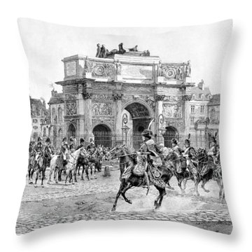 Napoleon Reviewing His Troops Throw Pillow by War Is Hell Store